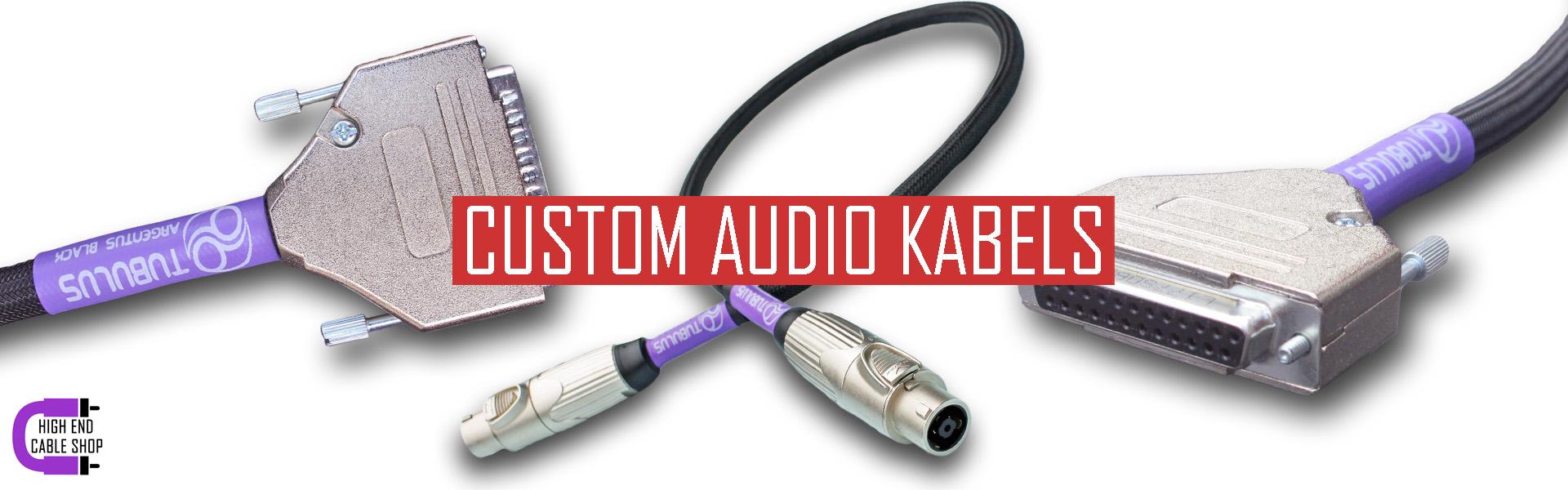 High end cable shop slide custom audio kabels